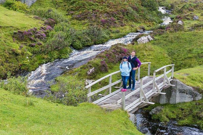 Couple in Moorland of Highlands, Scotland, UK