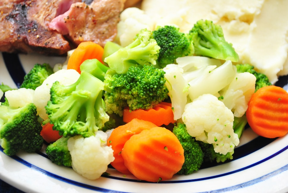 Mixed Veggies; Broccoli, Cauliflower, and Carrots