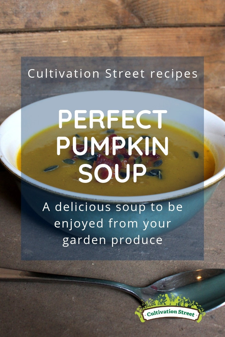 Cultivation Street recipes, perfect pumpkin soup, a delicious soup to be enjoyed from your garden produce