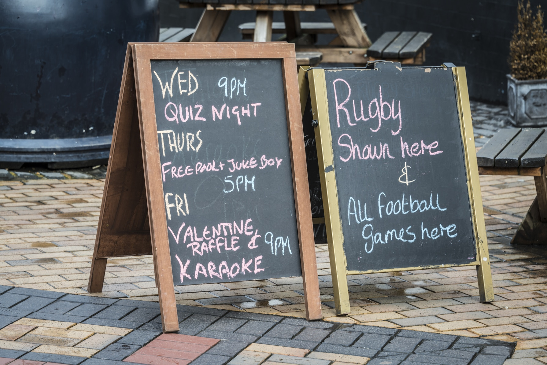British Pub blackboard signs