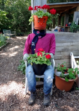Tinsley Allotment's Scarecrow, Shortlisted in the 2018 Cultivation Street Competition in Communities and Calliope Colour My Life