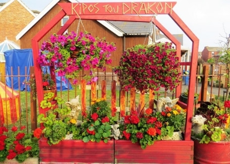 Kipos Tou Drakon, The Dragon's Garden, their final display, Shortlisted in the 2018 Cultivation Street Competition in Calliope Colour Your Life