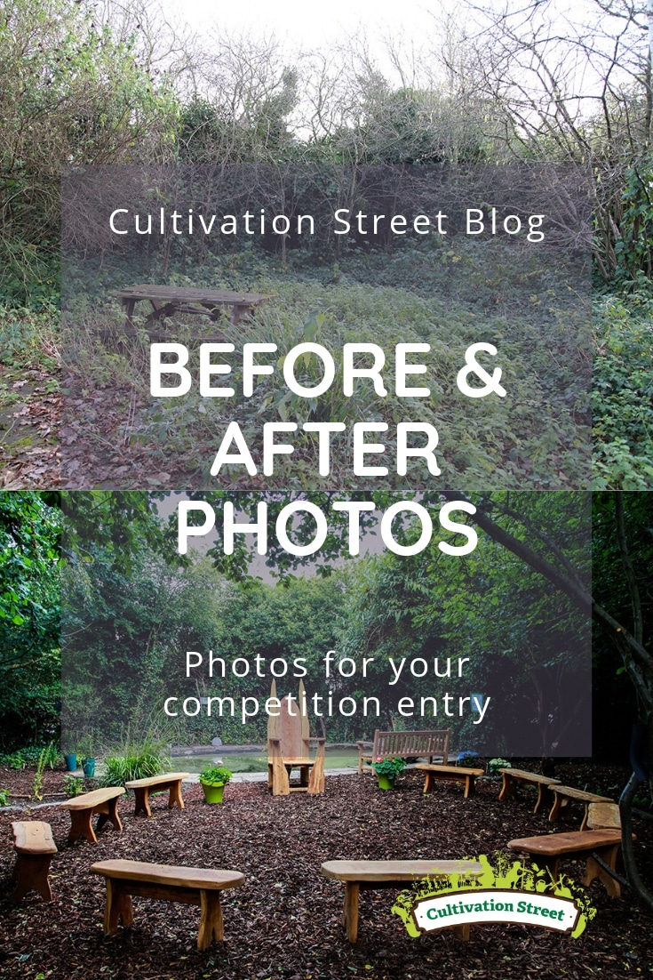 Cultivation Street blog, the importance of taking before and after photos to record your garden's journey and support your competition entry