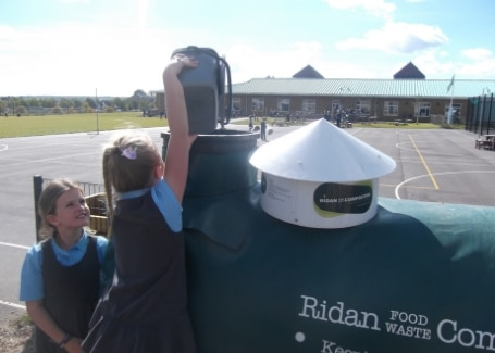 Damers First School Ridan composter in their Cultivation Street garden