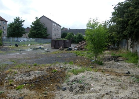 Shettleston Community Growing Project Derelict ground before allotments