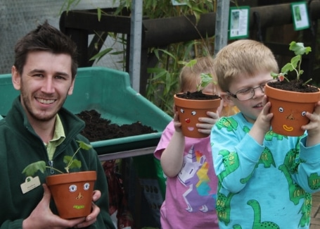 Cultivation Street Stories, Old Railway Line Garden Centre Matthew Lewis working with local children
