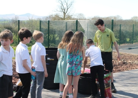 Cultivation Street Stories, Old Railway Line Garden Centre Matthew Lewis working with local school children