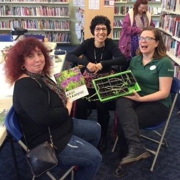 Cultivation Street ambassador, Dobbies Georgina Isherwood at Hunstanton library