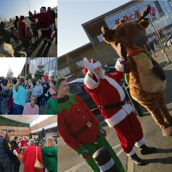 Cultivation Street ambassador, Dobbies Georgina Isherwood's Christmas event of Santa's arrival