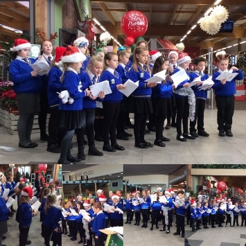 Cultivation Street ambassador, Dobbies Georgina Isherwood's Christmas event with a local school choir performing