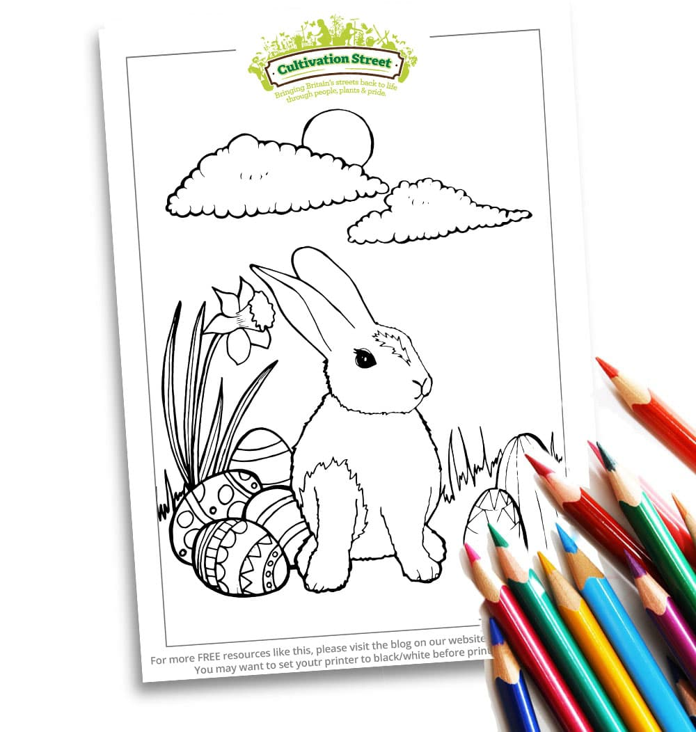 Easter Colouring Body Image Colouring page Cultivation Street (1)
