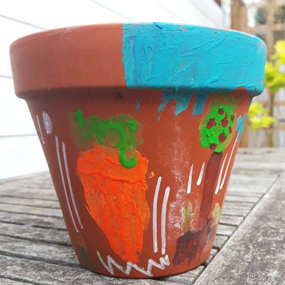 Painting Pots Main cultivation street communiyt school gardening calliope Pot 4