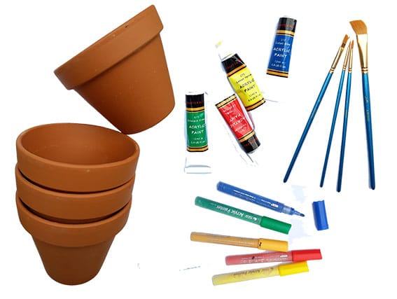Painting Pots Main cultivation street communiyt school gardening calliope you will need