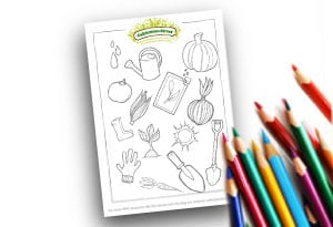 Feature Image Colouring page Cultivation Street Garden colouring