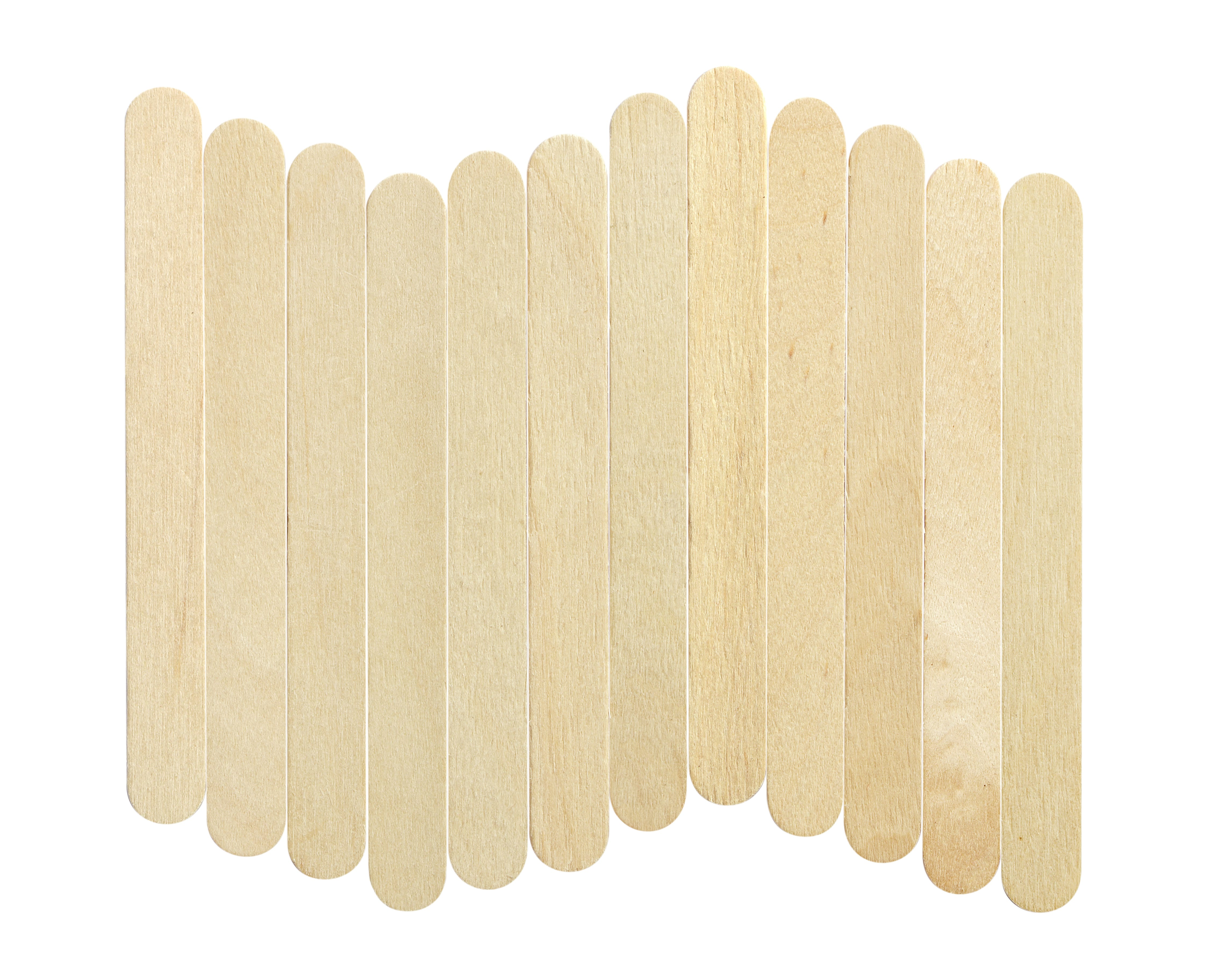 Ice lolly sticks, Ice cream sticks, isolated on white background