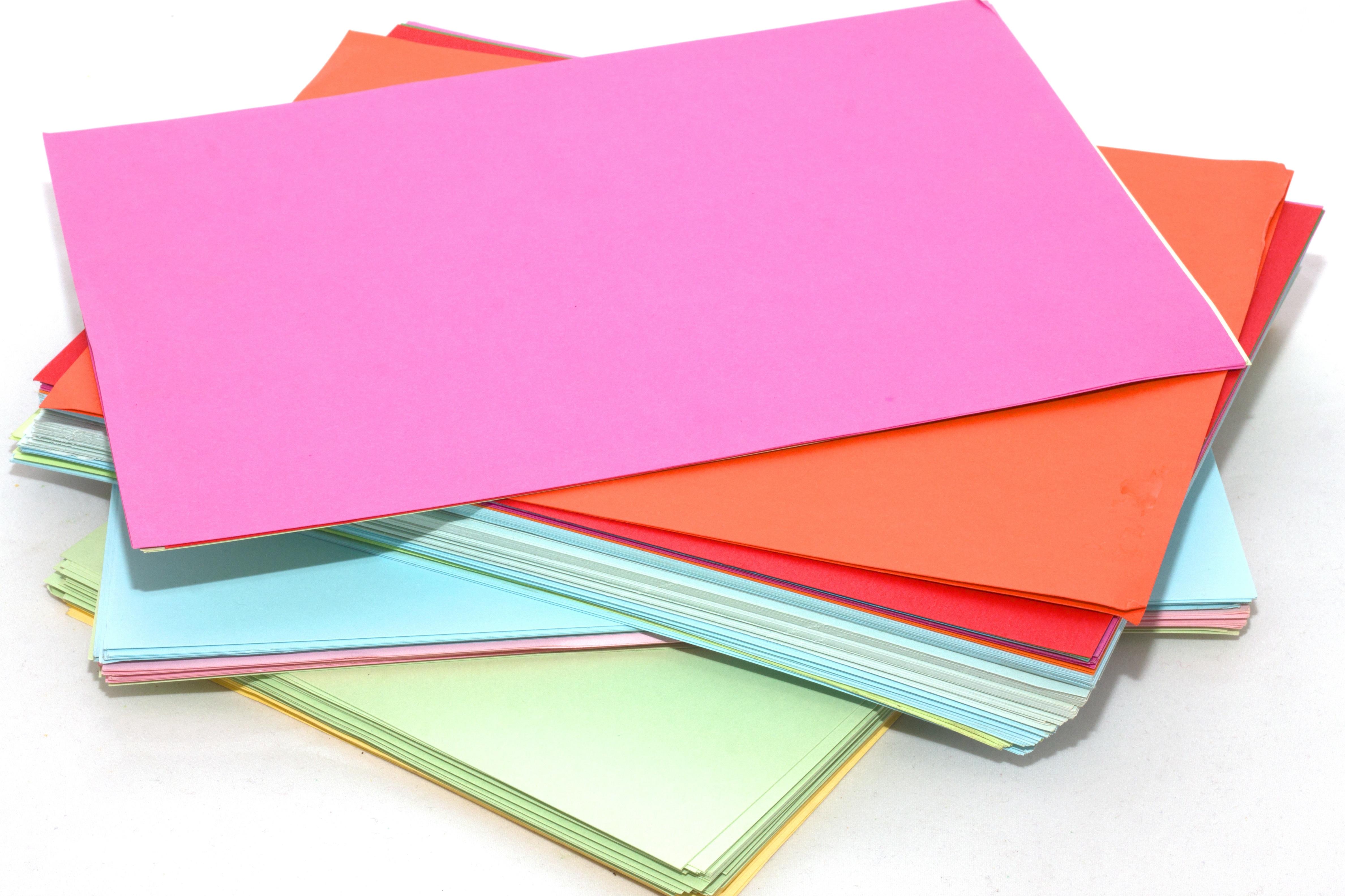 cartoncino comune A4 colorato