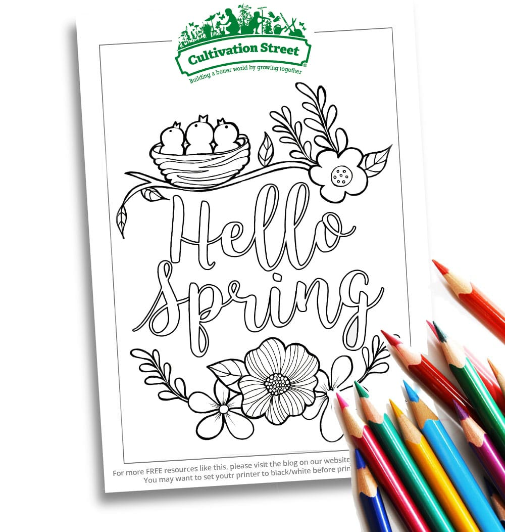 Spring Body-Image- Colouring Page Cultivation-Street