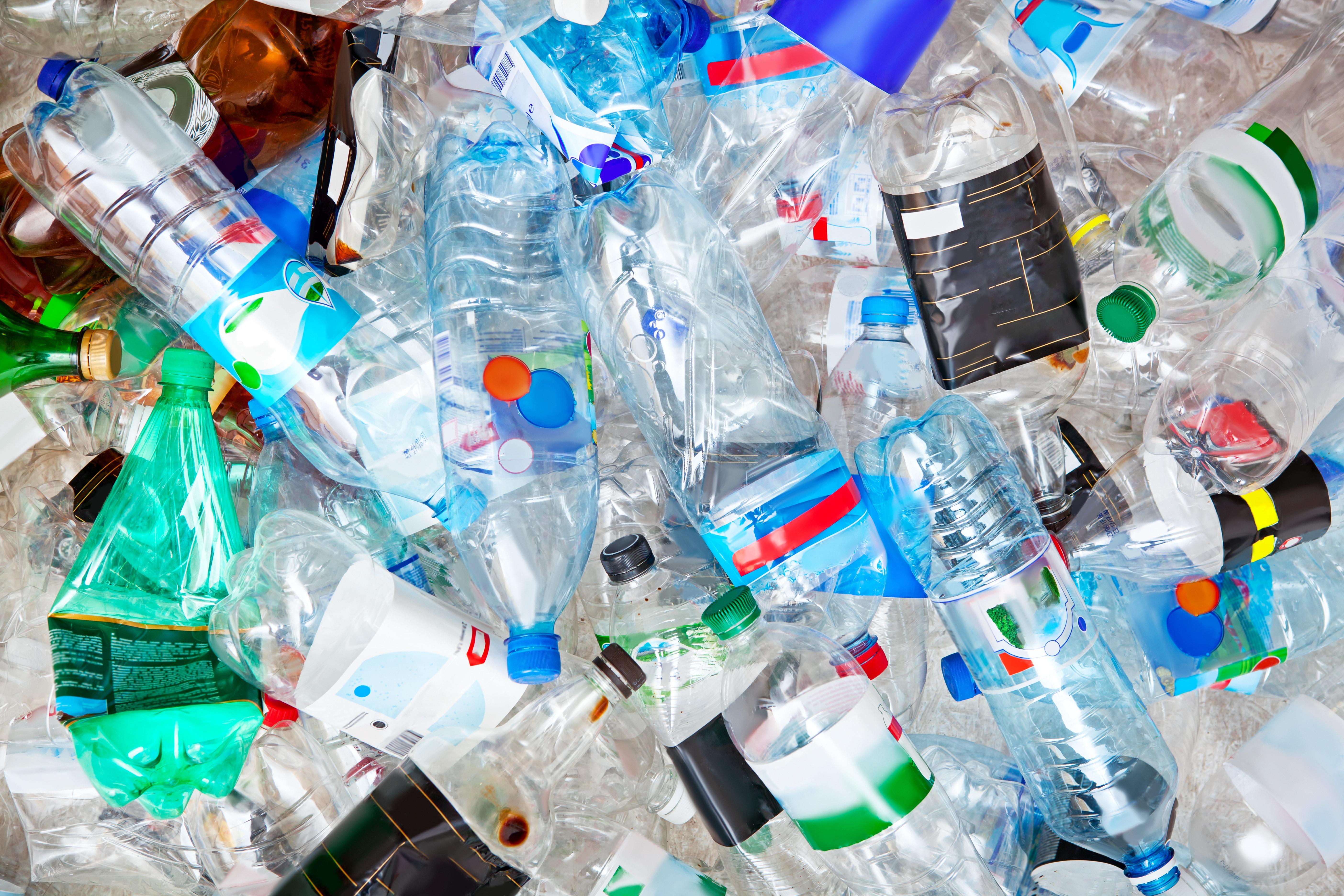 Big pile of empty plastic bottles.