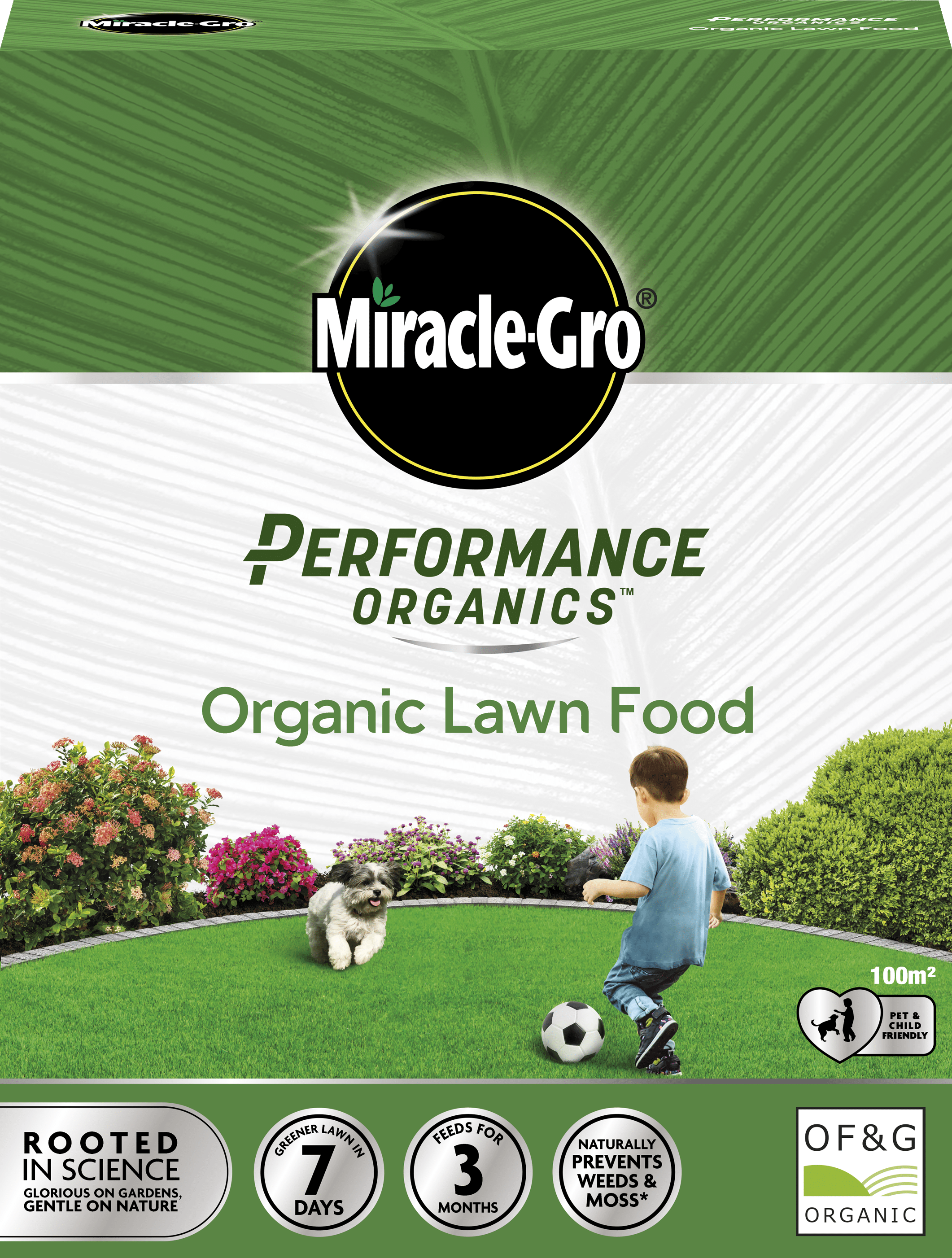 Miracle-Gro Performance Organics Lawn Food 100m 119915_119930 C