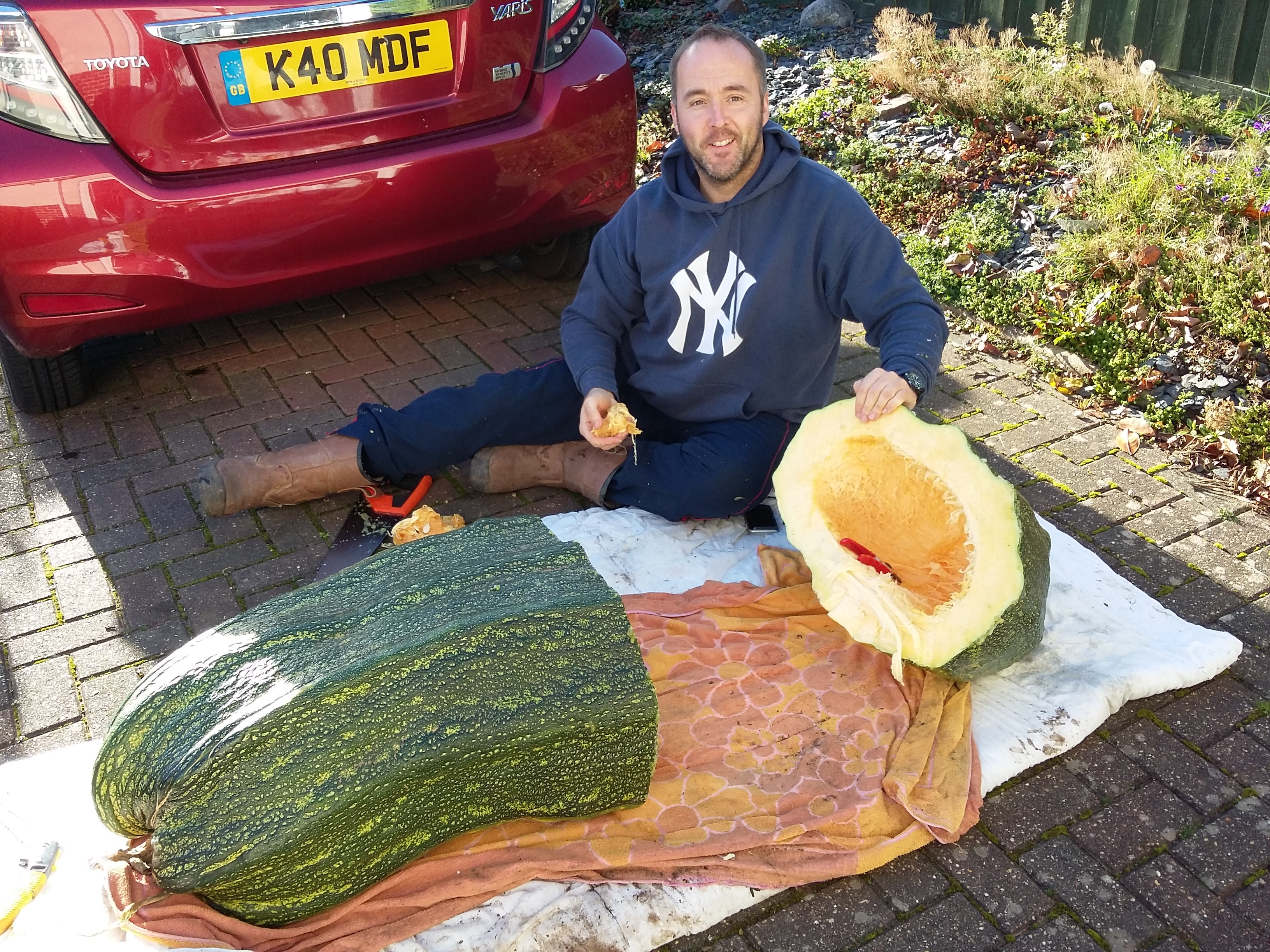 kevin and 149lb zuchinni