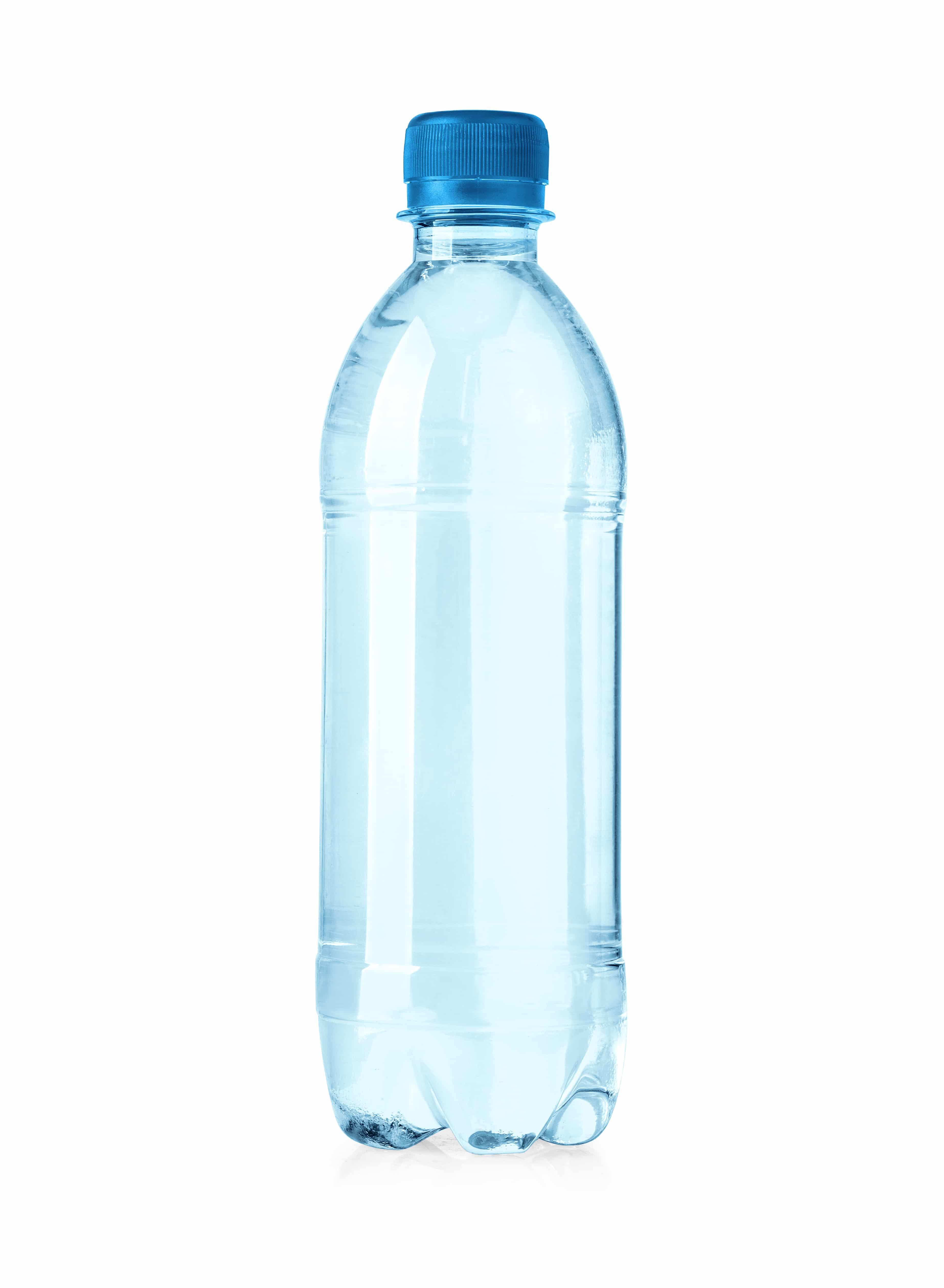 plastic water bottles isolated on white background with clipping path